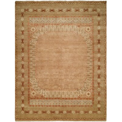 Gudruna Hand Knotted Wool Beige Area Rug Rug Size: Rectangle 9 x 12