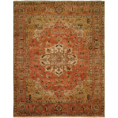 Matthew Hand Knotted Wool Terracotta Area Rug Rug Size: Rectangle 2 x 3