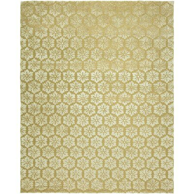 Sepulveda Hand-Tufted Wool Gold Area Rug Rug Size: Rectangle 2 x 3