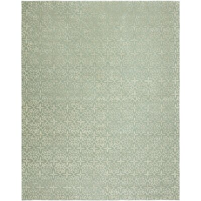 Bryleigh Hand-Tufted Wool Gray Area Rug Rug Size: Rectangle 36 x 5 6