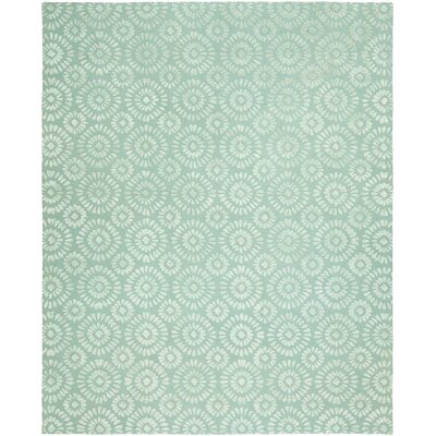 Nathalia Hand-Tufted Wool Blue Area Rug Rug Size: Rectangle 36 x 5 6