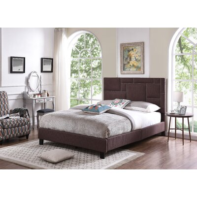 Red Hook Queen Upholstered Panel Bed Color: Brown