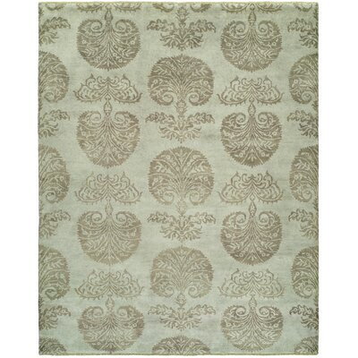 S�bastien Hand-Knotted Wool Ivory Area Rug Rug Size: Rectangle 4 x 6