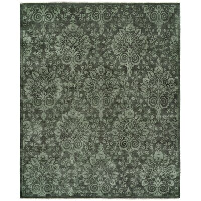 Pieter Hand-Knotted Wool Gray Area Rug Rug Size: Rectangle 6 x 9