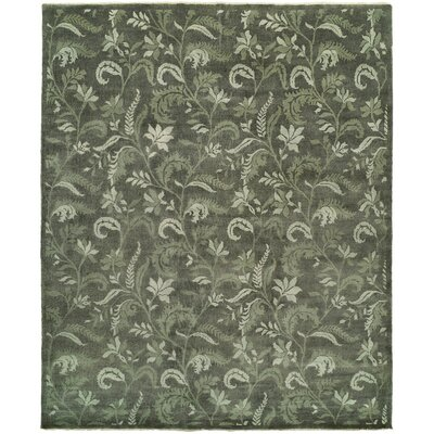 Hess Hand Knotted Wool Gray Area Rug Rug Size: Rectangle 2 x 3