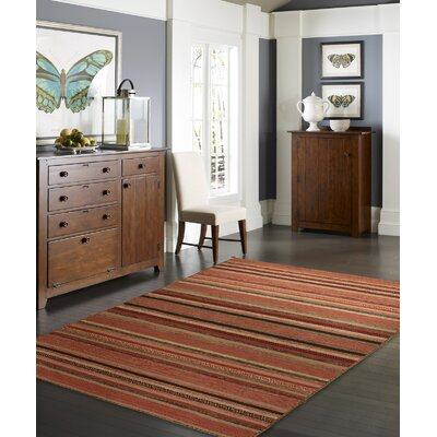 Dockrey Hand-Knotted Cotton Rust Area Rug Rug Size: Rectangle 96 x 13