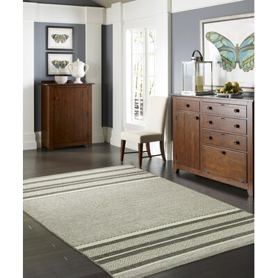Phillipston Granite Hand-Knotted Cotton Gray Area Rug Rug Size: Rectangle 56 x 86