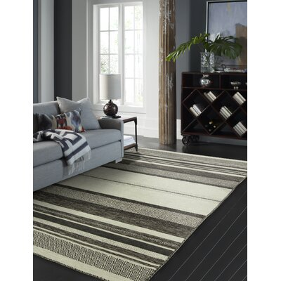 Phillipston Graphite Hand-Knotted Cotton Gray Area Rug Rug Size: Rectangle 56 x 86