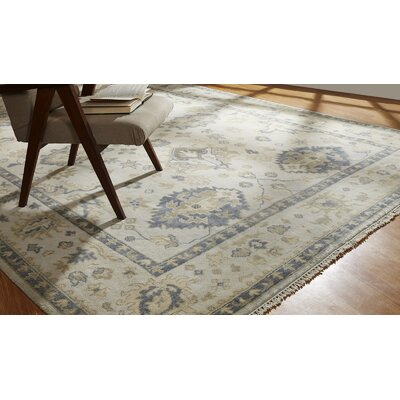 Neerav Hand Knotted Wool Ivory Area Rug Rug Size: Rectangle 6 x 9