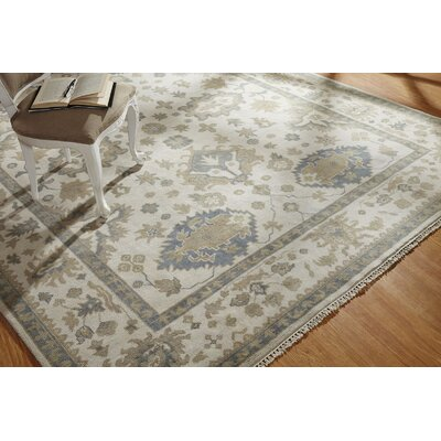 Lillie Hand Knotted Wool Ivory Area Rug Rug Size: Rectangle 9 x 12