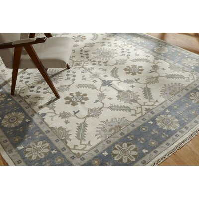 Irma Hand Knotted Wool Ivory Area Rug Rug Size: Rectangle 9 x 12