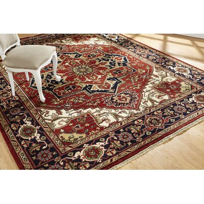 Marshfield Hand Knotted Wool Rust/Black Area Rug Rug Size: Rectangle 8 x 10