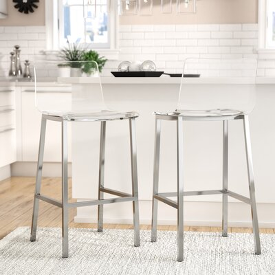 Channing 29 Bar Stool Color: Chrome
