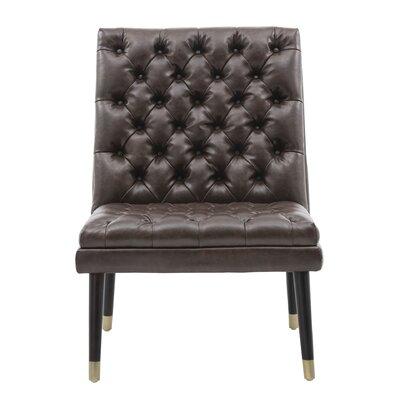 Wayne Side Chair Upholstery: Brown
