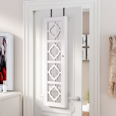 Gaunt Over The Door Jewelry Armoire with Mirror Color: Ash
