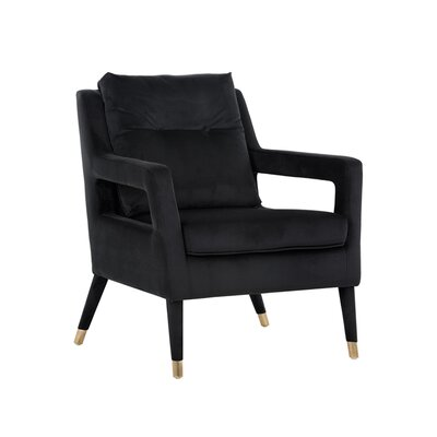 5west Oxford Occasional Armchair Upholstery: Black