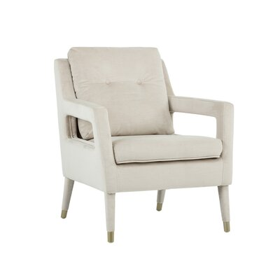 5west Oxford Occasional Armchair Upholstery: Champagne