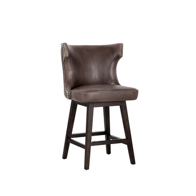 5west Neville 26 Swivel Bar Stool Upholstery: Brown