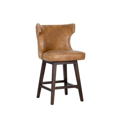 5west Neville 26 Swivel Bar Stool Upholstery: Tan