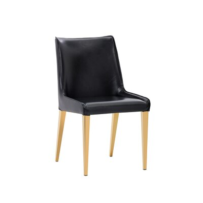 Ikon Lawrence Upholstered Dining Chair (Set of 2) Upholstery: Black