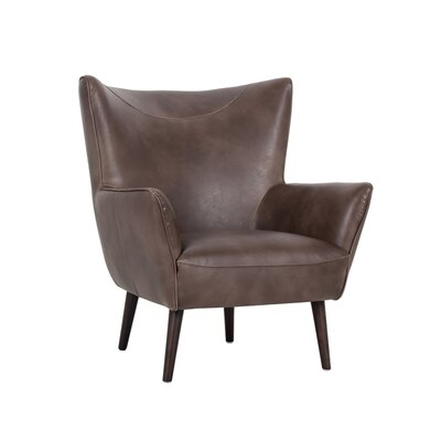 5west Luther Occasional Club Chair Upholstery: Brown
