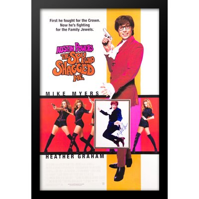 Austin Powers 'The Spy Who Shagged Me' Framed Autographed Picture in Picture Poster LWPV4-00018