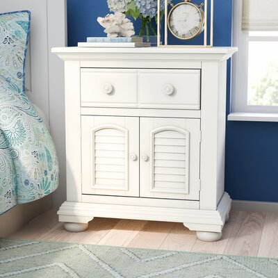 Montcerf Nightstand Color: Distressed Eggshell White