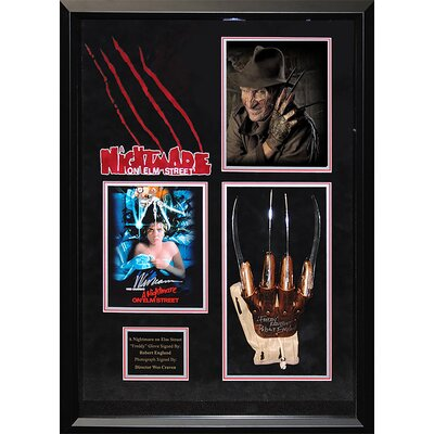 A Nightmare on Elm St Framed Signed Collage LWMV1-00581
