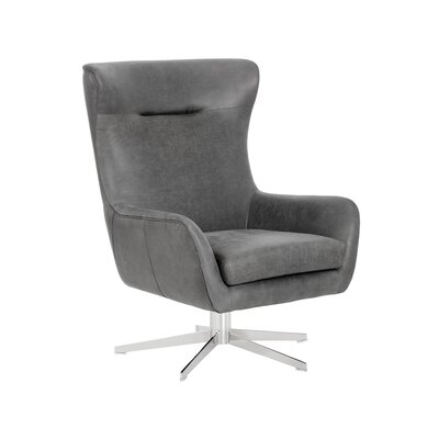 Club Judy Swivel Lounge Chair Upholstery: Black
