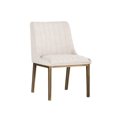 Halden Upholstered Dining Chair (Set of 2) Upholstery: Beige