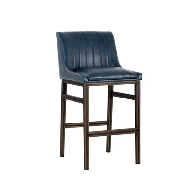 Halden Armless 30 Bar Stool Upholstery: Blue
