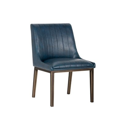 Halden Upholstered Dining Chair (Set of 2) Upholstery: Blue