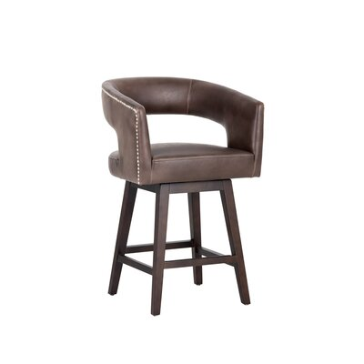 5west Draco Counter 26 Swivel Bar Stool Upholstery: Brown