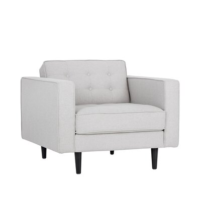 5west Donnie Club Chair Upholstery: Light Gray