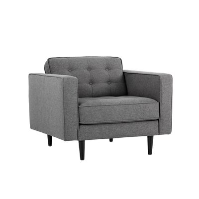 5west Donnie Club Chair Upholstery: Dark Gray
