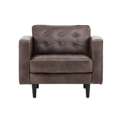 5west Donnie Club Chair Upholstery: Brown