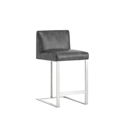 Club Dean Counter 26 Bar Stool Upholstery: Gray