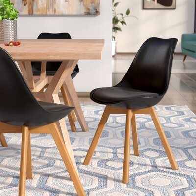 Ashley Solid Wood Dining Chair Finish: Black