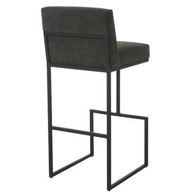 Shiflet 30 Bar Stool Frame Color: Satin Black, Upholstery: Charcoal