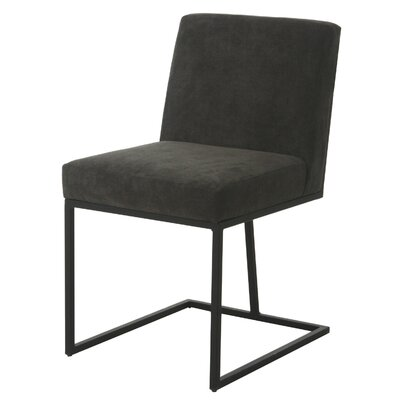 Shiflet Upholstered Dining Chair Upholstery Color: Gray, Leg Color: Nickel