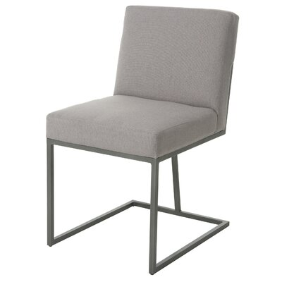 Shiflet Upholstered Dining Chair Upholstery Color: Charcoal, Leg Color: Satin Black