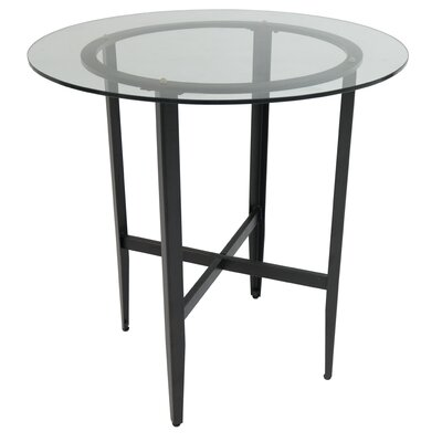 Hedden Pub Table Color: Phantom/Clear Glass