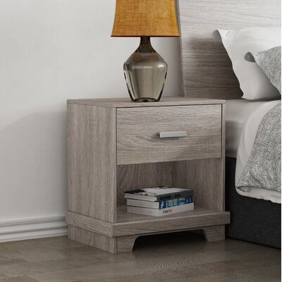 Sherita 1 Drawer Nightstand Color(Base/Top): Sonoma