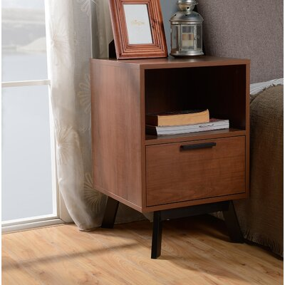 Weinstock 1 Drawer Nightstand Color: Mahogany