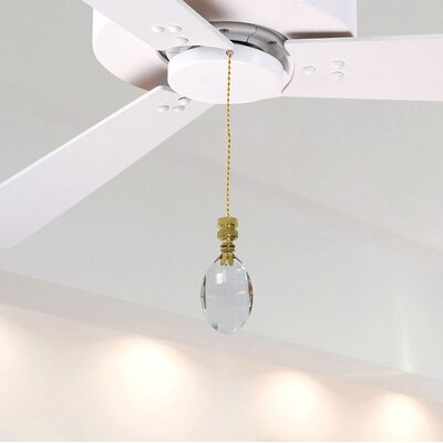 Fan Pull Chain with Oval Radiance Finial
