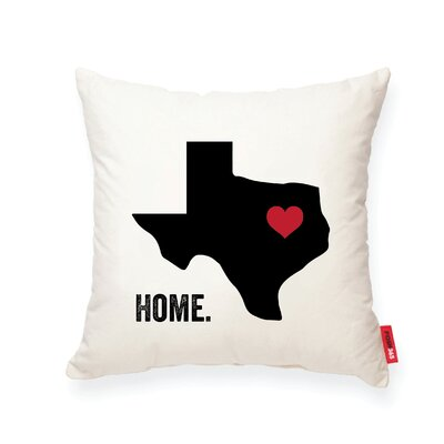 Pettry Texas Cotton Throw Pillow