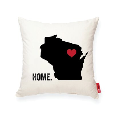 Pettry Wisconsin Cotton Throw Pillow