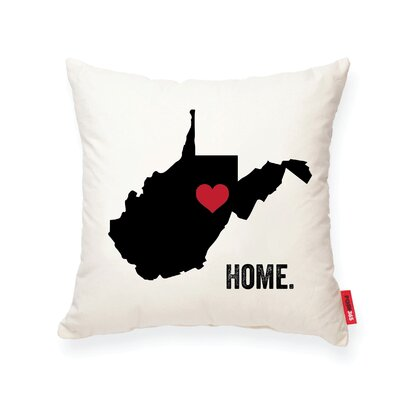 Pettry West Virginia Cotton Throw Pillow