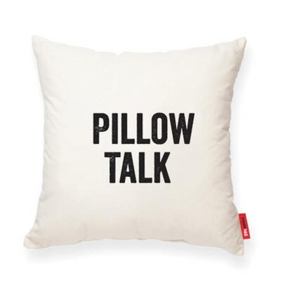 Pettis Pillow Talk Cotton Throw Pillow