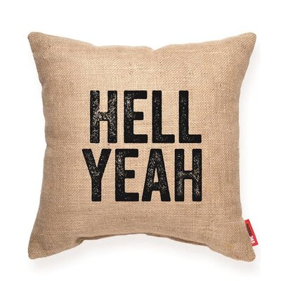 Pettis Hell Yeah Throw Pillow
